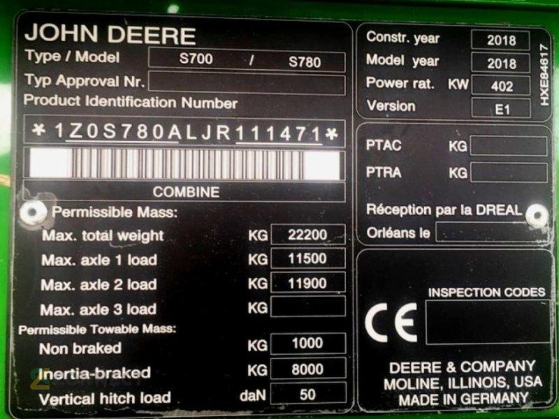 Mähdrescher des Typs John Deere S780, Gebrauchtmaschine in Sonnewalde (Bild 7)