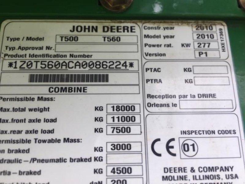 Mähdrescher des Typs John Deere T 560i, Gebrauchtmaschine in Hutthurm (Bild 9)