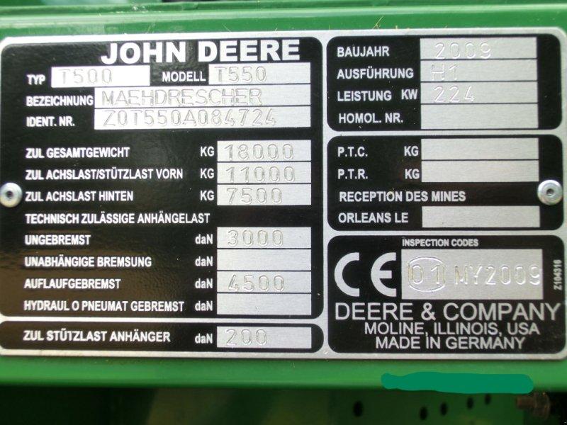 Mähdrescher des Typs John Deere T550, Gebrauchtmaschine in Wolfhagen (Bild 5)