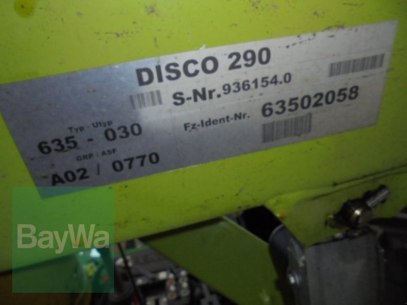 Mähwerk des Typs CLAAS Disco 290, Gebrauchtmaschine in Neuburg a.d.Donau (Bild 6)