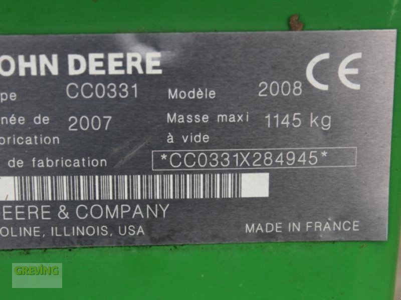 Mähwerk typu John Deere 331, Gebrauchtmaschine v Ahaus (Obrázok 10)