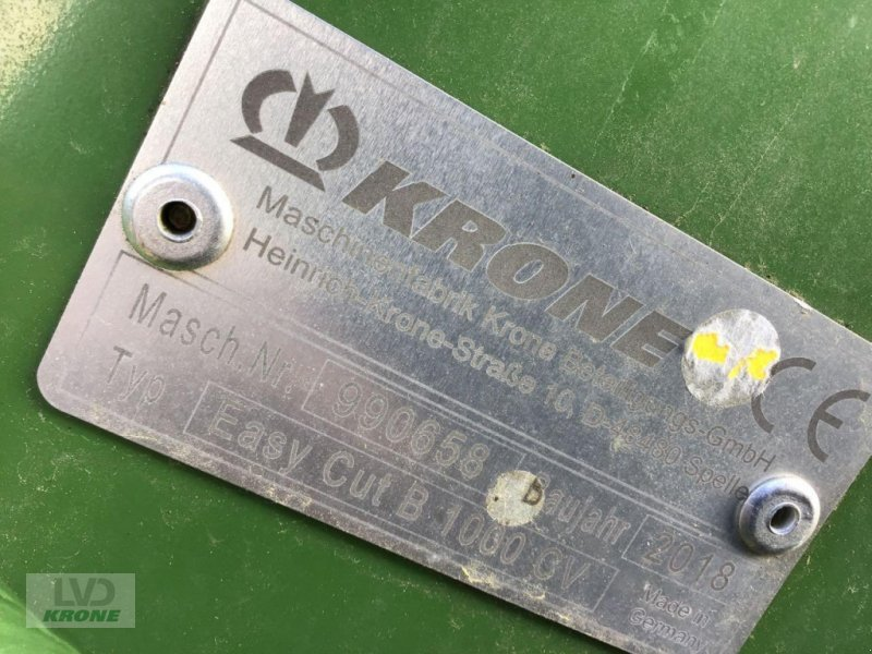 Mähwerk типа Krone Easy Cut B 1000 CV, Gebrauchtmaschine в Alt-Mölln (Фотография 8)