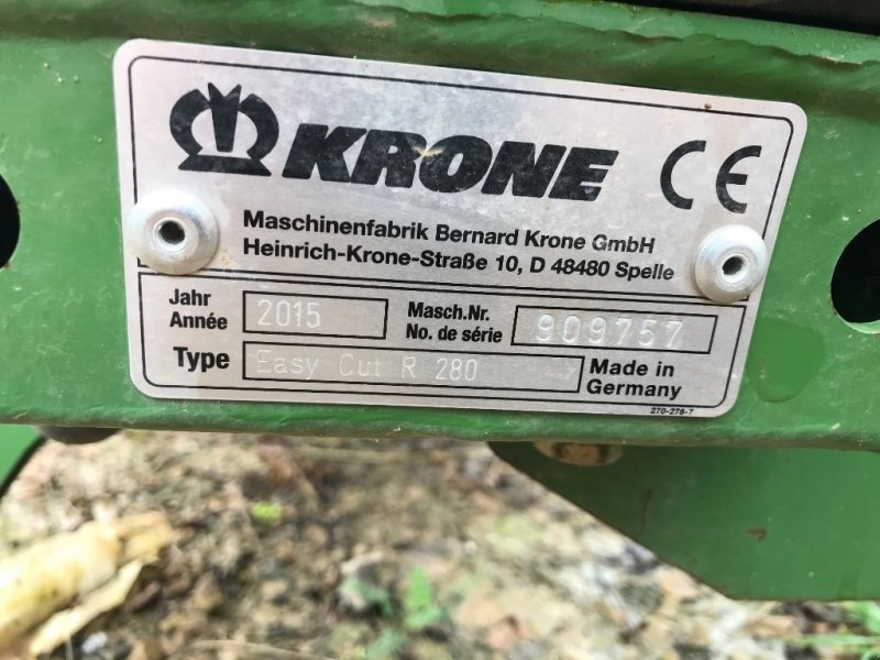 Mähwerk a típus Krone ECR 280, Gebrauchtmaschine ekkor: CHAMPLECY (Kép 5)