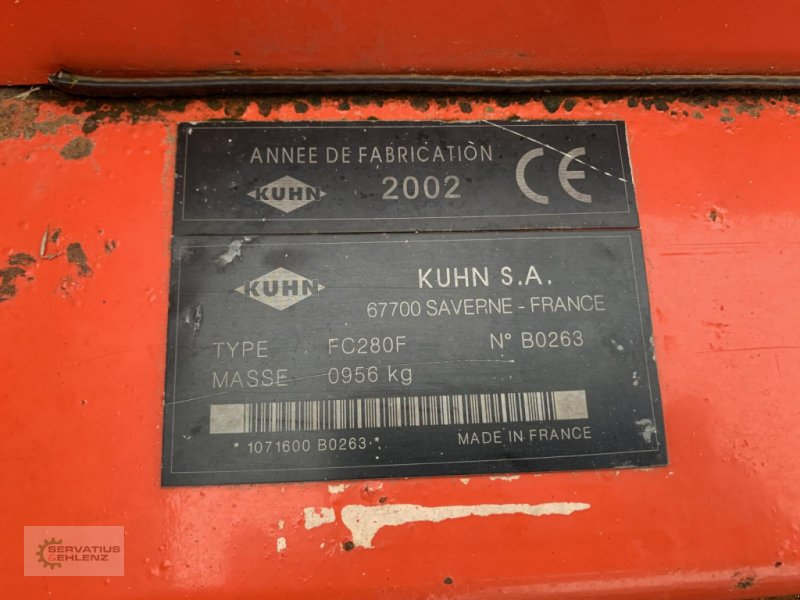 Mähwerk des Typs Kuhn FC 280 F, Gebrauchtmaschine in Rittersdorf (Bild 7)