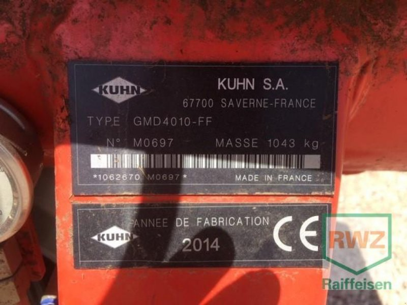 Mähwerk типа Kuhn GMD 4010 FF Lift Control, Gebrauchtmaschine в Kruft (Фотография 5)