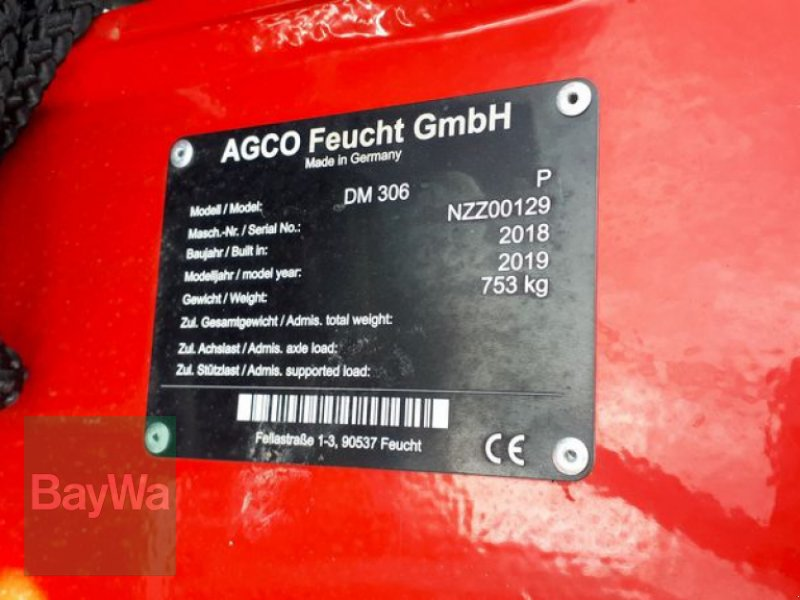 Mähwerk του τύπου Massey Ferguson DM 306-P, Neumaschine σε Bad Feilnbach (Φωτογραφία 3)