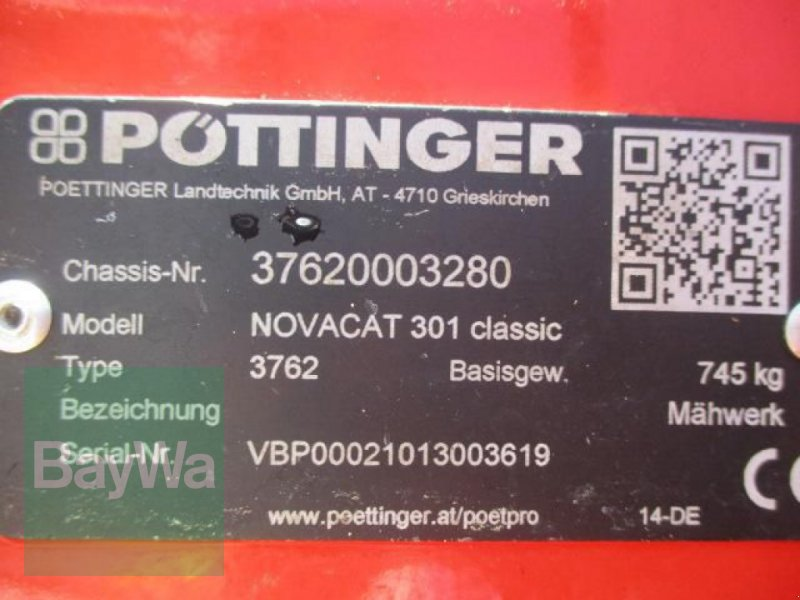 Mähwerk des Typs Pöttinger NOVACAT 301 CLASSIC #308, Gebrauchtmaschine in Schönau b.Tuntenhausen (Bild 9)