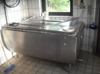 Milchkühlwanne Miele 800 Liter rechteckig mit Bodenkühlung tejhűtő kád