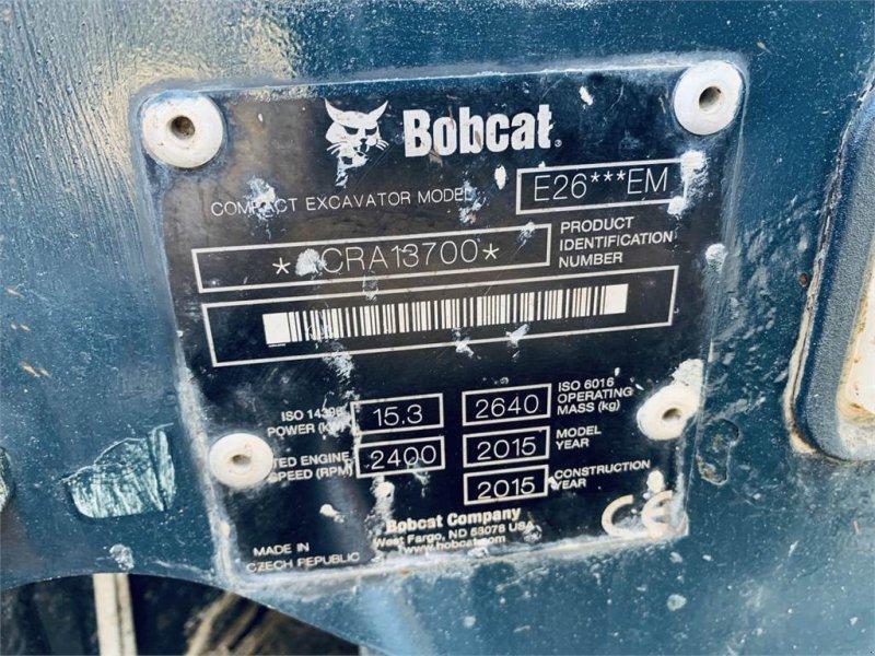 Minibagger des Typs Bobcat E26 EM, Gebrauchtmaschine in Schrobenhausen (Bild 12)