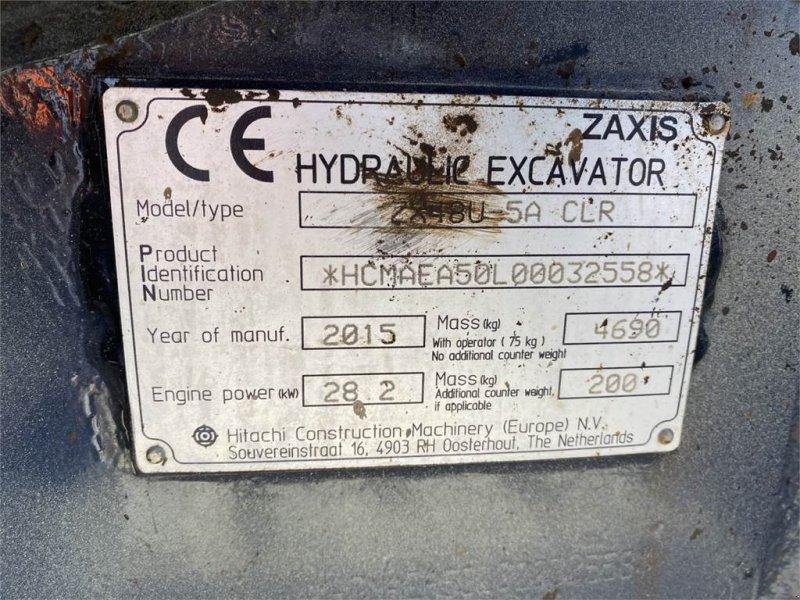 Minibagger типа Hitachi Midi Bagger ZX 48 U-5A CLR, Gebrauchtmaschine в Schrobenhausen (Фотография 11)