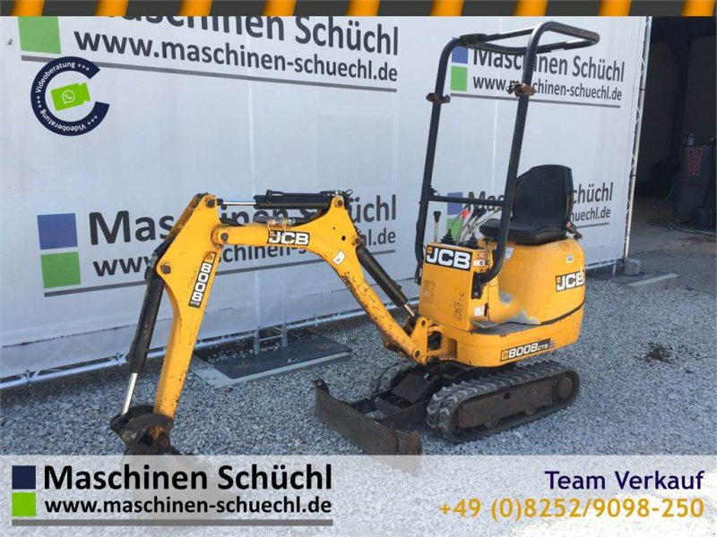 Minibagger des Typs JCB 8008 Microbagger 950kg, hydr. Fahrwerk, Gebrauchtmaschine in Schrobenhausen (Bild 1)