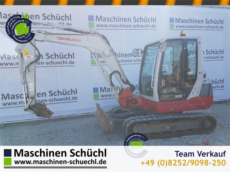 Minibagger типа Takeuchi TB 250, Gebrauchtmaschine в Schrobenhausen (Фотография 1)