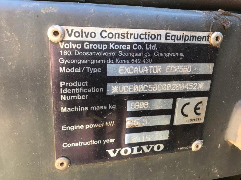 Minibagger des Typs Volvo ECR 58 D MIT SORTIERGREIFER TOP, Gebrauchtmaschine in Weilach (Bild 7)