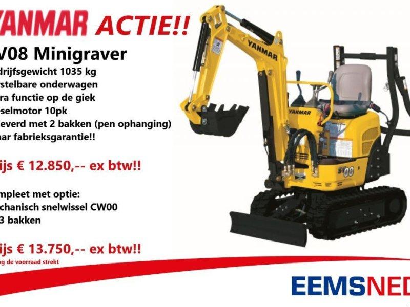 Minibagger типа Yanmar ACTIE SV08 minigraver  12850,--, Gebrauchtmaschine в Losdorp (Фотография 1)