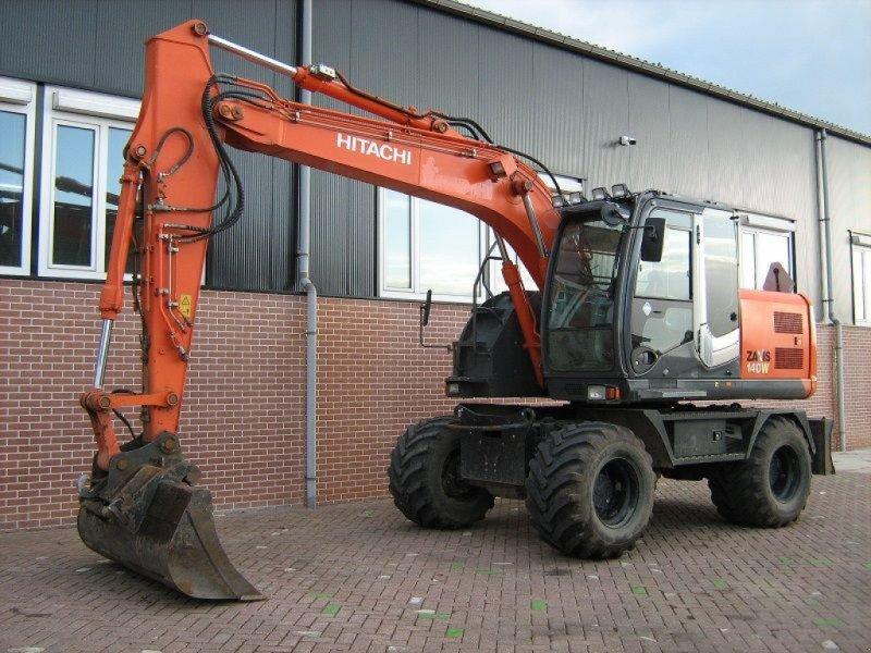 Mobilbagger типа Hitachi ZX140W-3, Gebrauchtmaschine в Barneveld (Фотография 1)
