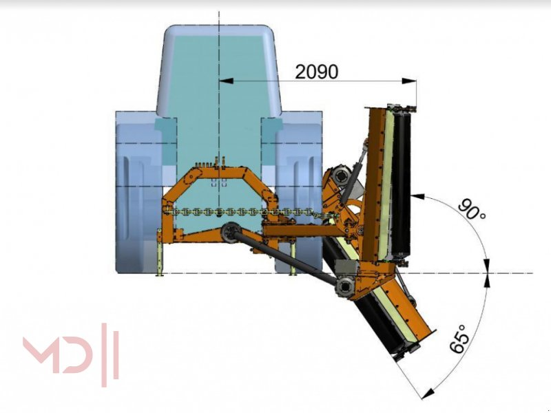 Mulcher типа MD Landmaschinen KW SCHLEGELMÄHER FRONT-HECK KBT16 (1,65 m) Z017/2, Neumaschine в Zeven (Фотография 6)