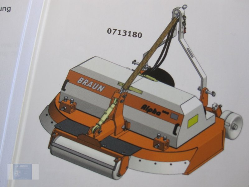 Mulchgerät & Häckselgerät des Typs Braun Alpha 2000    1,30-1,80m, Neumaschine in Lörzweiler (Bild 1)