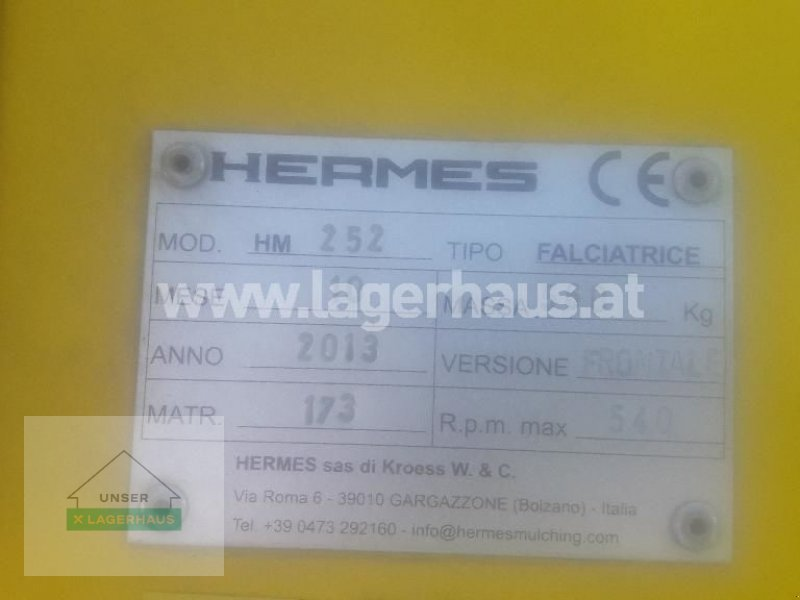 Mulchgerät & Häckselgerät des Typs Hermes FALCIATRICE HM 252, Gebrauchtmaschine in Feldbach (Bild 4)