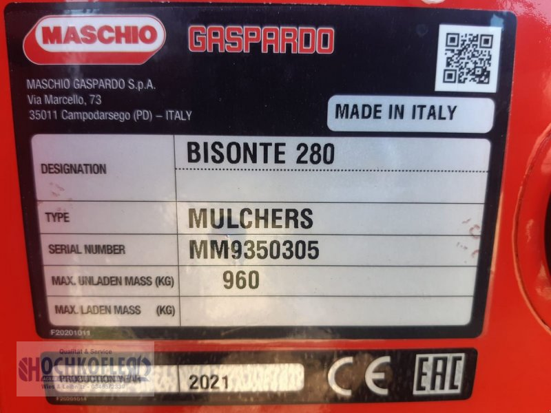 Mulchgerät & Häckselgerät a típus Maschio Bisonte 280, Neumaschine ekkor: Wies (Kép 3)