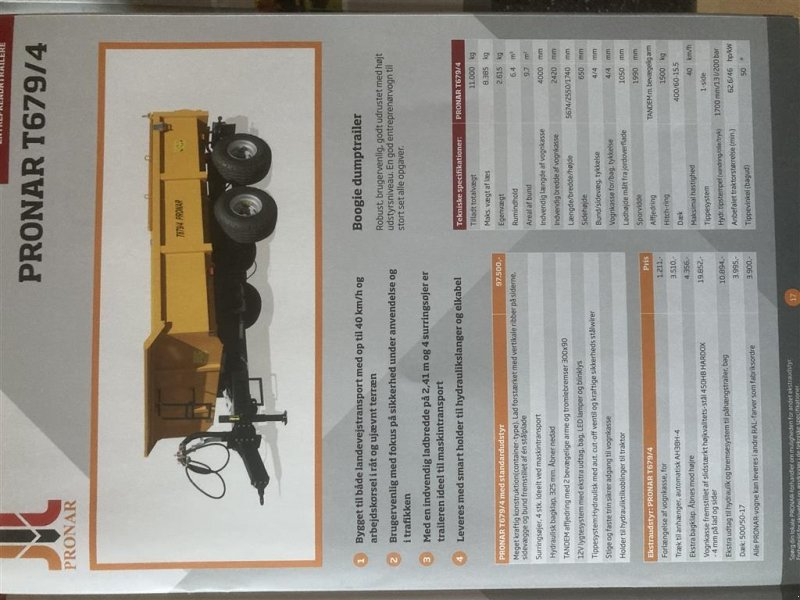 Muldenkipper типа PRONAR Sonstiges, Gebrauchtmaschine в Dalmose (Фотография 1)