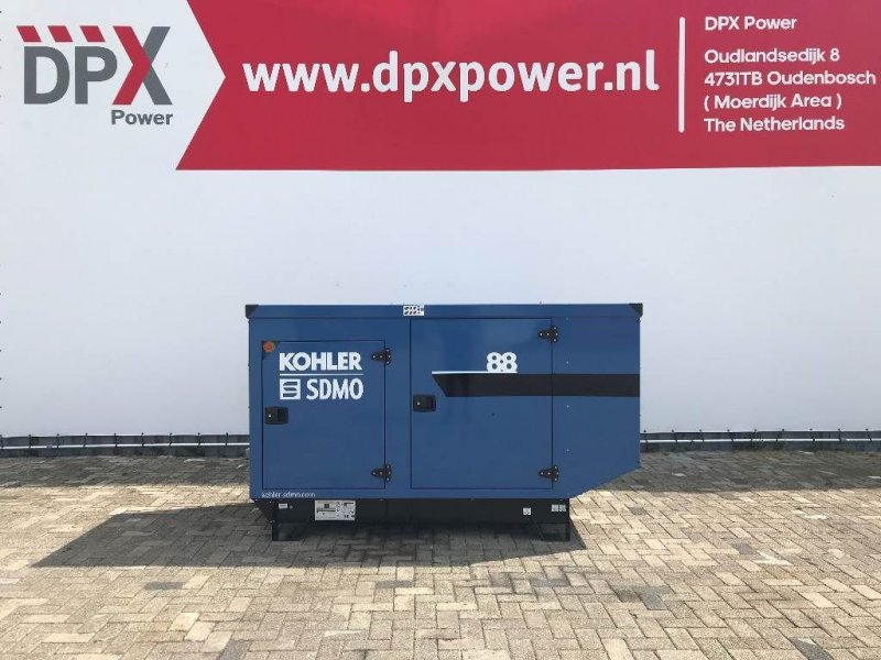 Notstromaggregat типа SDMO J88 - 88 kVA Generator - DPX-17105, Gebrauchtmaschine в Oudenbosch (Фотография 1)