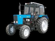 Oldtimer-Traktor des Typs Belarus Беларус-82.1, Neumaschine in Чабани
