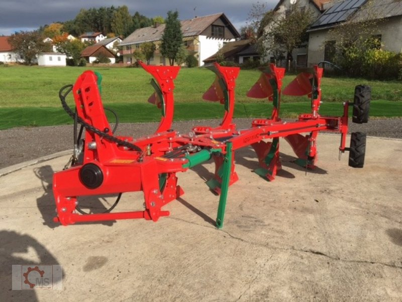 Pflug des Typs Agro-Masz POH 4 Hydraulische Steinsicherung XL Körper Doppelrad, Neumaschine in Tiefenbach (Bild 1)