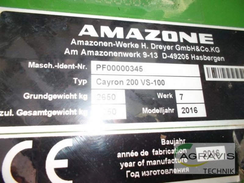 Pflug типа Amazone CAYRON 200 V5-100 5-SCHAR, Gebrauchtmaschine в Gyhum-Nartum (Фотография 13)