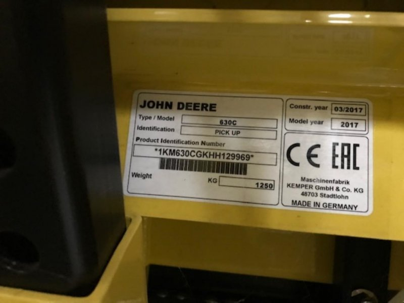 Pick-up типа John Deere 630C, Gebrauchtmaschine в Brønderslev (Фотография 1)