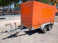 Atec aanhangwagen dubbel asser met huif PKW-Anhänger
