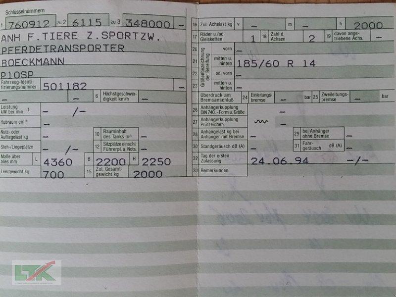 PKW-Anhänger des Typs Boeckmann Cavallo Spezial, Gebrauchtmaschine in Kathendorf (Bild 9)
