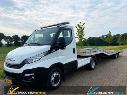 Iveco Daily 40C18 BE + Veldhuizen Autotransporter Прицеп для легкового автомобиля