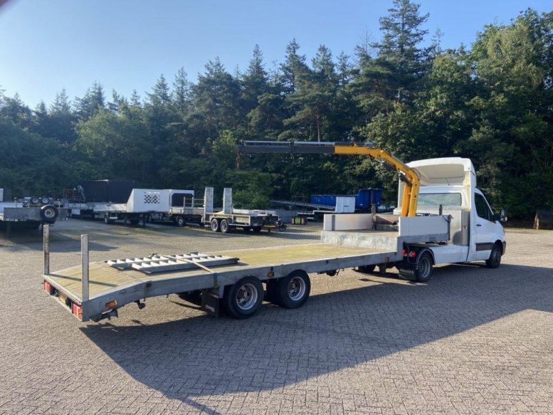 PKW-Anhänger typu Sonstige Be oplegger semi dieplader veldhuizen met autolaadkraan, Gebrauchtmaschine w Putten (Zdjęcie 1)
