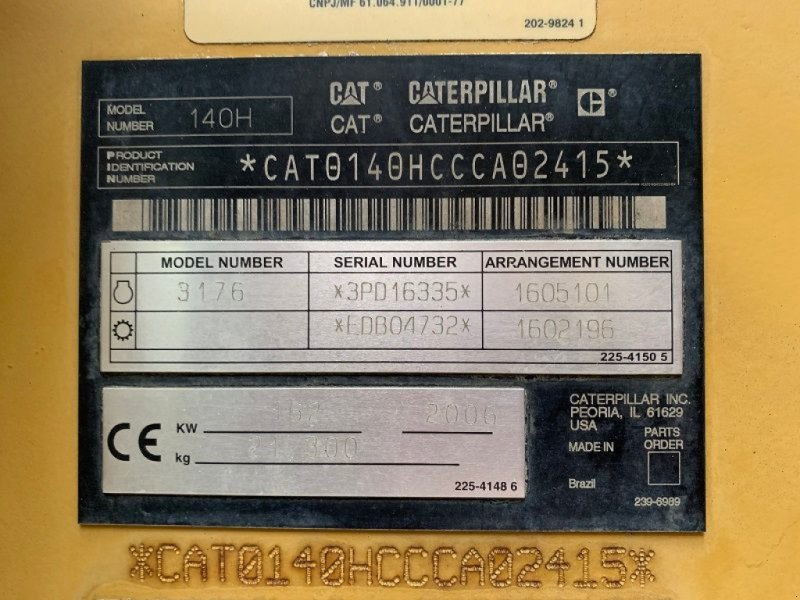 Planierraupe tip Caterpillar CAT 140 H, Gebrauchtmaschine in BRIGNAIS (Poză 7)