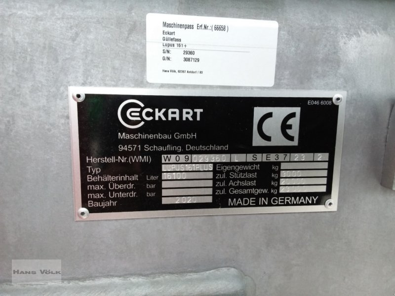 Pumpfass des Typs Eckart Lupus 161 Plus, Gebrauchtmaschine in Schwabmünchen (Bild 10)