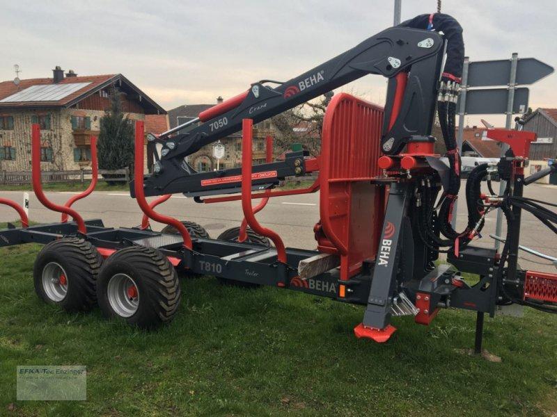 Rückewagen & Rückeanhänger des Typs BEHA T810 mit Kran 7050, Neumaschine in Ainring (Bild 12)