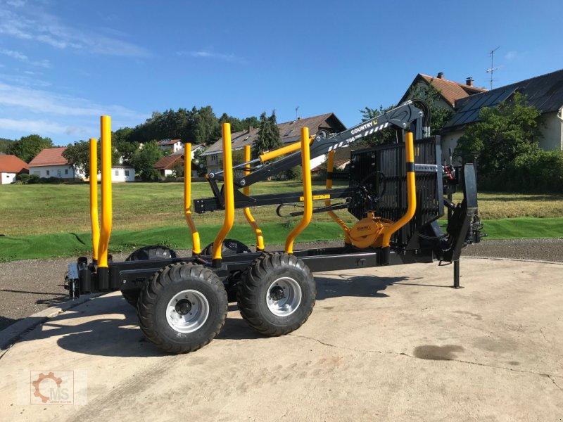 Rückewagen & Rückeanhänger des Typs Country T110D 13t Kran 700 Pro 7,6m Kran 560kg Hubkraft Druckluft, Neumaschine in Tiefenbach (Bild 5)