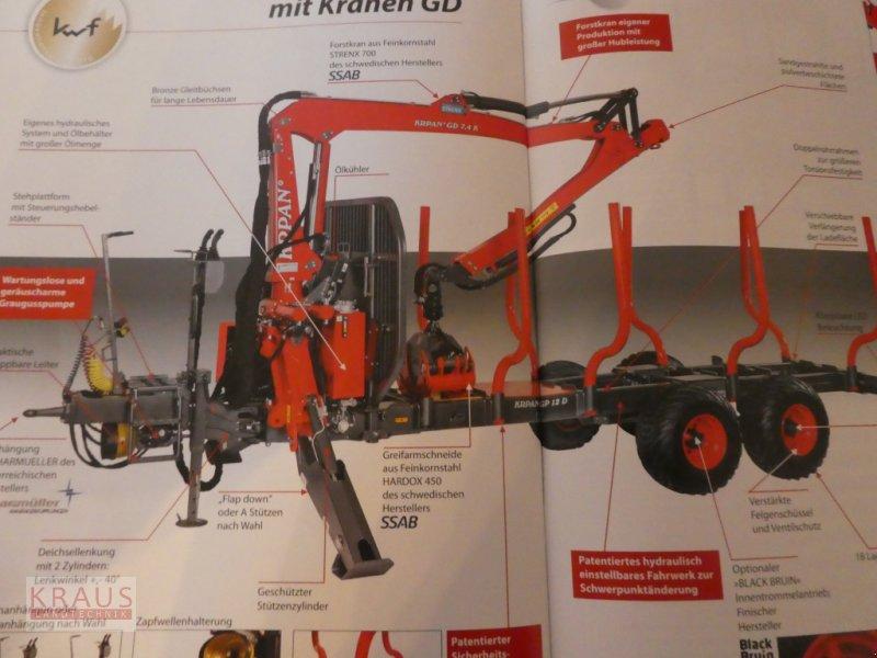 Rückewagen & Rückeanhänger des Typs Krpan GP 10 D mit Verschiebbarer Achse, Neumaschine in Geiersthal (Bild 1)