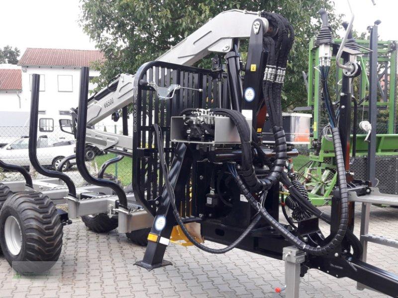 Rückewagen & Rückeanhänger типа Multiforest MF950 (9,5t) Kran V6500 (6,5m) Druckluftbremse, Neumaschine в Rain (Фотография 3)