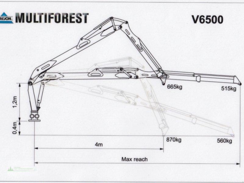 Rückewagen & Rückeanhänger типа Multiforest MF950 (9,5t) Kran V6500 (6,5m) Druckluftbremse, Neumaschine в Rain (Фотография 10)