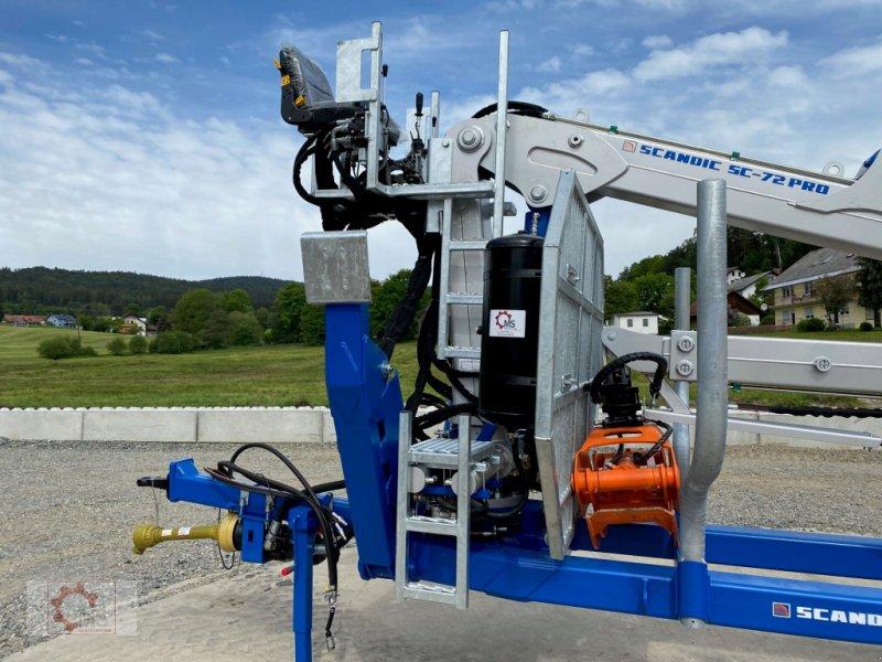 Rückewagen & Rückeanhänger des Typs Scandic ST-10D 13t 7,9m 850kg Hubkraft Druckluft Hochsitz, Neumaschine in Tiefenbach (Bild 4)