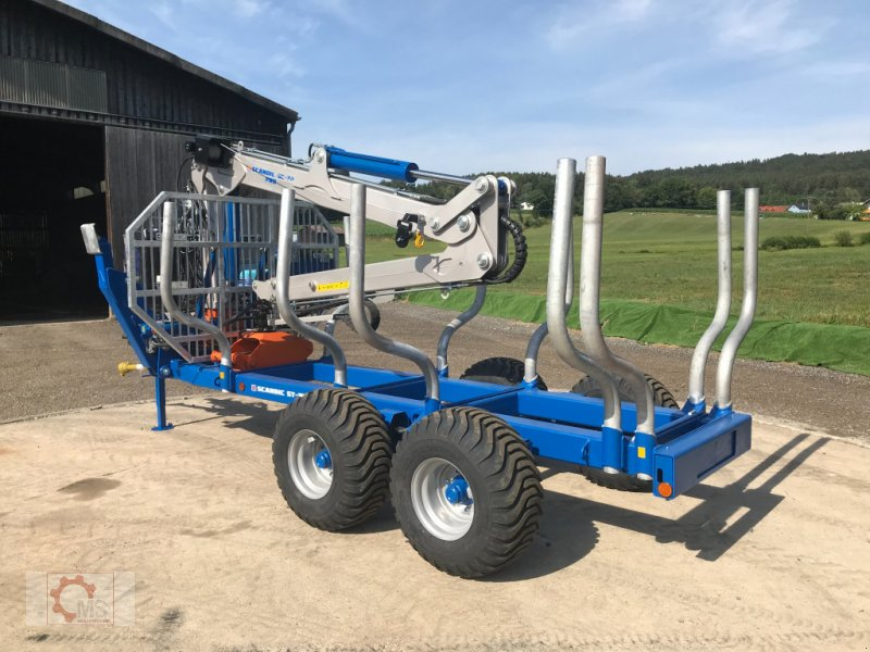 Rückewagen & Rückeanhänger des Typs Scandic ST-10D 13t 7,9m 850kg Hubkraft Druckluft Winde sofort verfügbar, Neumaschine in Tiefenbach (Bild 4)