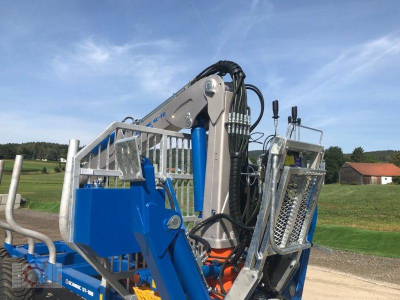 Rückewagen & Rückeanhänger des Typs Scandic ST-10D 13t 7,9m Kran 850kg Hubkraft Druckluft 40% Förderung, Neumaschine in Tiefenbach (Bild 11)