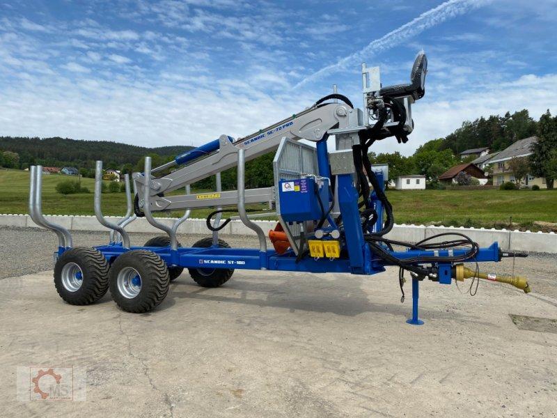 Rückewagen & Rückeanhänger des Typs Scandic ST-10D 13t 7,9m Kran 850kg Hubkraft Druckluft Hochsitz sofort verfügbar, Neumaschine in Tiefenbach (Bild 1)
