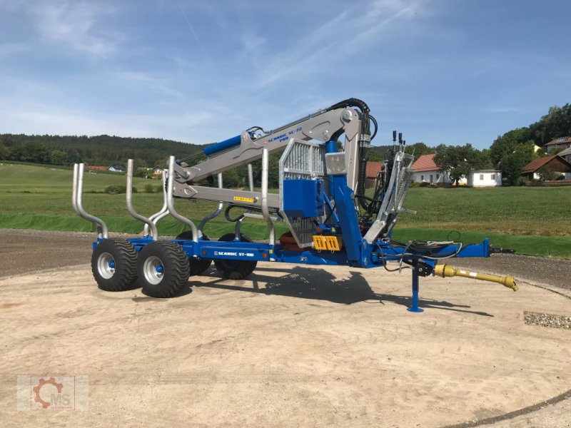 Rückewagen & Rückeanhänger des Typs Scandic ST-10D 13t 7,9m Kran 850kg Hubkraft Druckluft Seilwinde, Neumaschine in Tiefenbach (Bild 2)