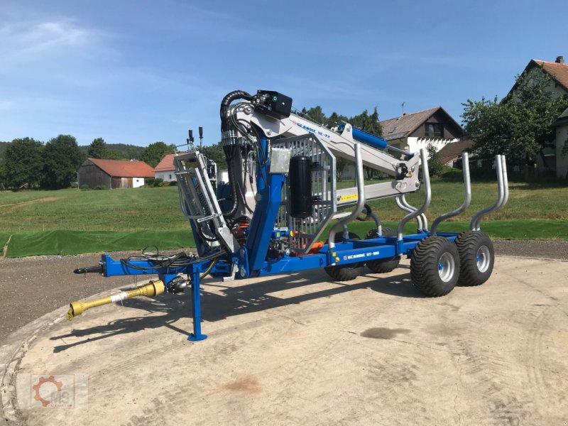 Rückewagen & Rückeanhänger des Typs Scandic ST-10D 13t 7,9m Kran 850kg Hubkraft Druckluft Seilwinde, Neumaschine in Tiefenbach (Bild 4)