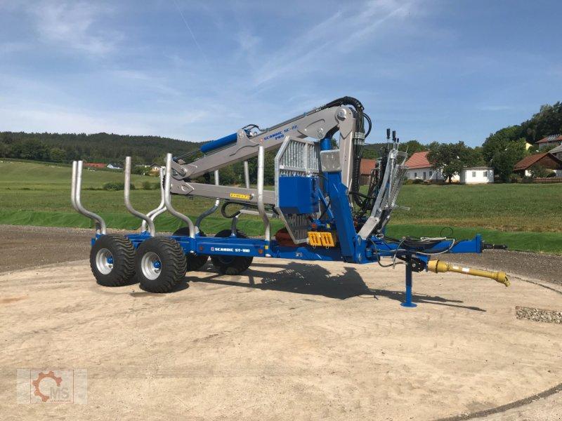 Rückewagen & Rückeanhänger des Typs Scandic ST-10D 13t 7,9m Kran 850kg Hubkraft Druckluft, Neumaschine in Tiefenbach (Bild 3)