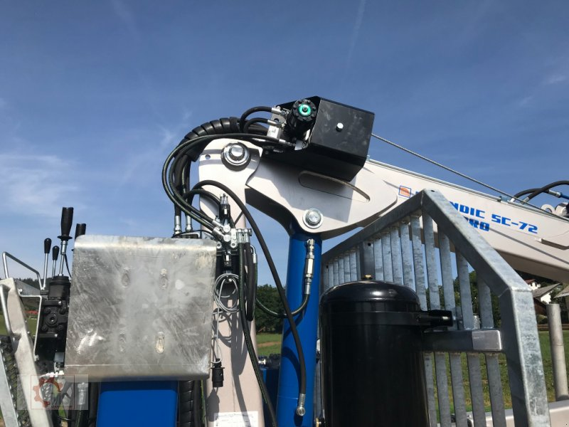 Rückewagen & Rückeanhänger des Typs Scandic ST-10D 13t 7,9m Kran 850kg Hubkraft Druckluft, Neumaschine in Tiefenbach (Bild 7)