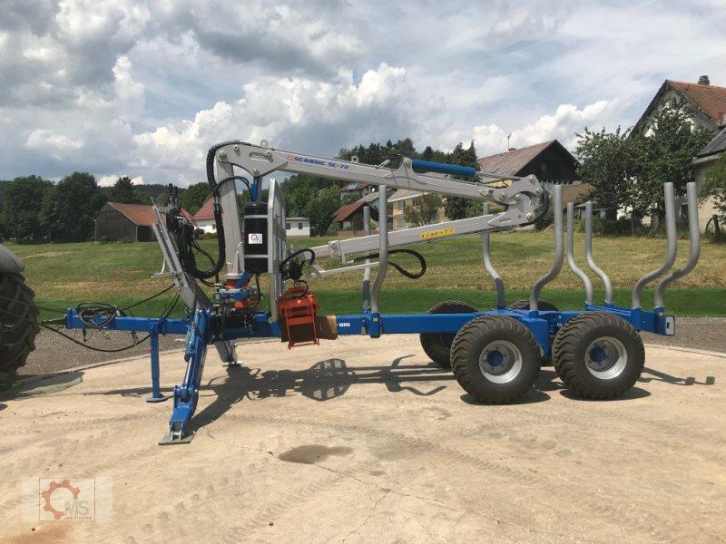 Rückewagen & Rückeanhänger des Typs Scandic ST-10S 13t 7,9m 550kg Kran Druckluft sofort verfügbar 40% Förderung, Neumaschine in Tiefenbach (Bild 2)