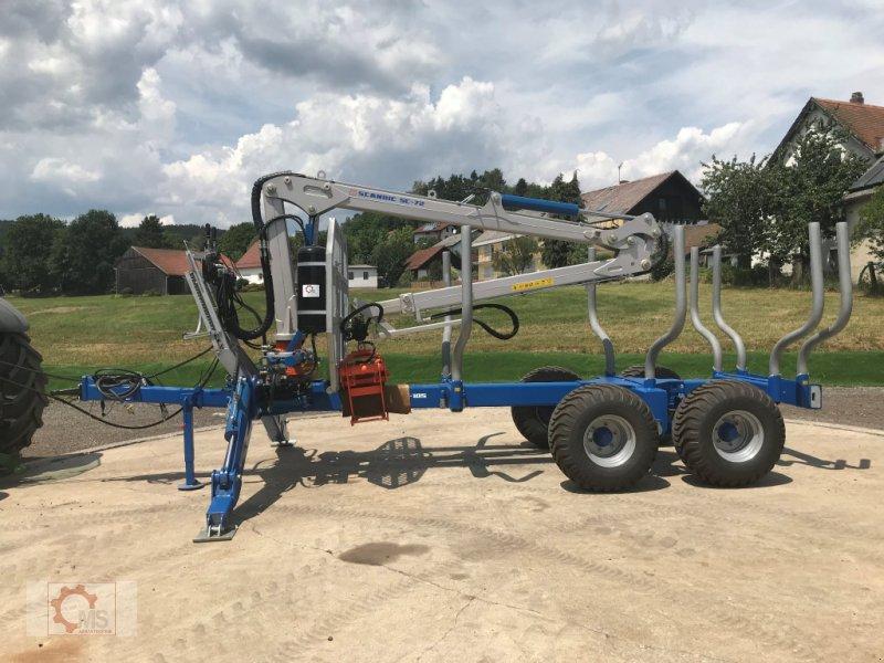 Rückewagen & Rückeanhänger des Typs Scandic ST-10S 13t 7,9m 550kg Kran Druckluft sofort Verfügbar, Neumaschine in Tiefenbach (Bild 4)
